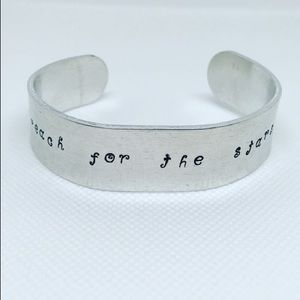 Reach for the Stars Handstamped Cuff Bracelet